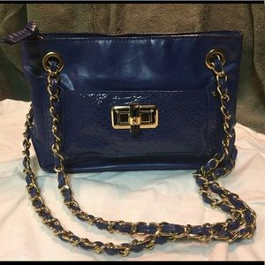 Beauty deep blue adjustable -crossbody or shoulder